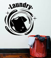Vinyl Wall Decal Laundry Room Dry Basket Cleaning Cleaner Stickers Mural G822 21 99 Picclick
