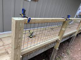 Diy Hog Wire Deck Railing