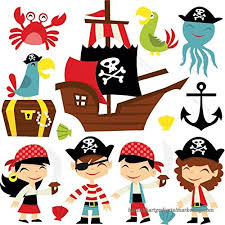 Cartoon Pirate Wall Sticker Set Pirate Ship Wall Decal Kids Bedroom Home Decor Available In 8