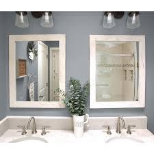 set of 2 farmhouse bathroom mirrors 24