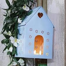 blue bird house gift garden decorator