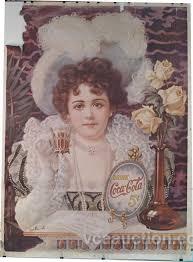 Very Large Coca Cola Print of Hilda Clark