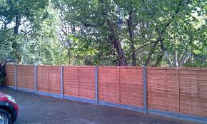 Fence Cement Posts Gravel Boards With Wooden Fence Panels