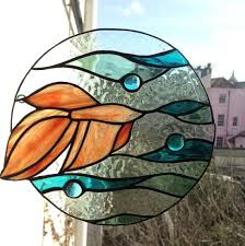stained glass siamese fighting fish