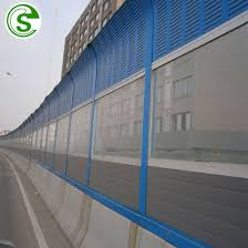 China Noise Barrier Soundproof Fence Panel For Bridge China Sound Barrier Railway Noise Barrier