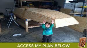 homemade wooden jon boat build making