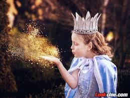 金色高光金粉儿童艺术人像写真梦幻修图合成PS素材– LookCine