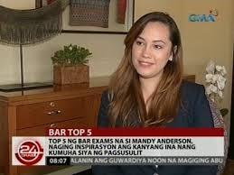 Top 5 ng BAR exams na si Mandy Anderson, insiparsyon ang kanyang ...