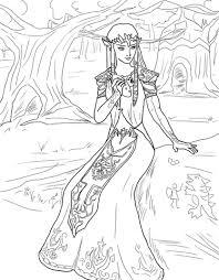 Prinses Zelda Kleurplaat Gratis Kleurplaten Printen