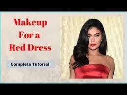 red dress makeup tutorial makeup for