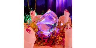 tilted ice bubble bowl centerpiece