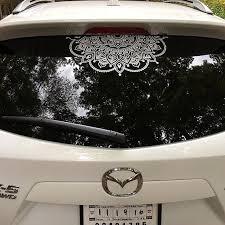 Mandala Car Decal Mandala Sticker Yoga Decal Boho Decor Flower Etsy Cute Car Decals Car Accessories Car Decals