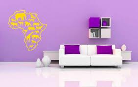 Wall Vinyl Sticker Room Decals Mural Design Africa Map Continent Animals Bo1220 Ebay