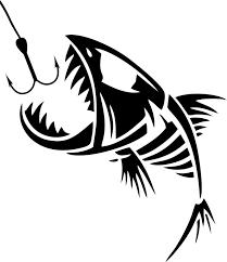 Custom Text Fish Skull Fishing Tackle Rod Car Truck Window Vinyl Decal Sticker