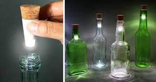 diy how to make glass bottle lights