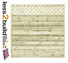 Square Continental Fence Panel Trellis Top Model 4 6ft W X 6ft H Ebay