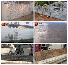 Concrete Fence Molds For Sale Precast Fence Forms View Concrete Fence Mold Ystone Product Details From Zhengzhou Ystone Construction Materials Co Ltd On Alibaba Com