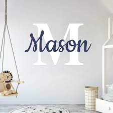 Amazon Com Custom Name Initial Prime Series Baby Boy Girl Unisex Wall Decal Nursery For Home Bedroom Children Wide 22 X 15 Height Arts Crafts Sewing