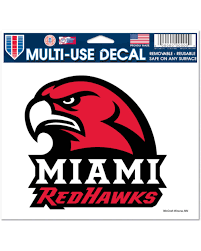 Miami Redhawks Multi Use Decal Redhawks Official Miami Redhawks Store