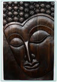 large wooden buddha wall art