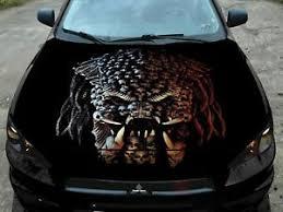 Predator Skull Car Vinyl Decal Hood Wrap Full Color Pro Graphics Sticker Ebay