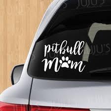 Pitbull Mom Decal Etsy