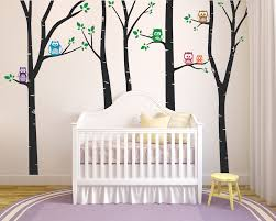 Owl Birch Trees Wall Decals The Decal Guru