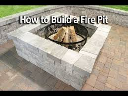 how to build a square fire pit you