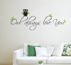 Owl Always Love You Living Room Home Wall Stickers Carved Painted Decal Pvc Sticker Simple Style Vinyl Art Home Decor Mural Decoration Murale Home Decorwall Sticker Aliexpress