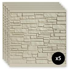 Simtek 6 Ft X 6 Ft Ecostone Beige Composite Fence Panel Pack Fp72x72beg5 The Home Depot