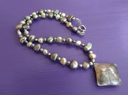 pearl necklace with 925 silver