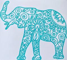 Expiring Intricate Mandala Elephant Vinyl Decal For Car Electronics Yeti Or Home Various Colors Available Elephant Decal Mandala Elephant Elephant Tattoos