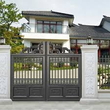 Most Popular Multi Function Aluminium Wrought Welded Fence Panel Custom Residential Used Metal Security Latest Main Gates Design View Aluminum Gate Keenhai Product Details From Foshan Keenhai Metal Products Co Ltd On