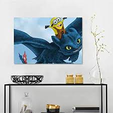 Amazon Com Decals Hiccup Toothless And Yellow A1 Wall Stickers For Kids W28 X L20 Inch Baby