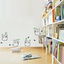 Cute Totoro Wall Sticker Kids Bedroom Decor Japanese Cartoon Animation Wall Decals Wish