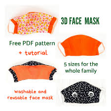 Sewing Pattern for Face Mask ...