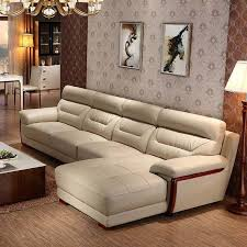 leather sofa and fabric sofa