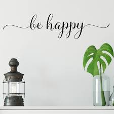 Red Barrel Studio Be Happy Vinyl Wall Decal Wayfair