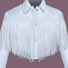sloane peterson white fringe leather