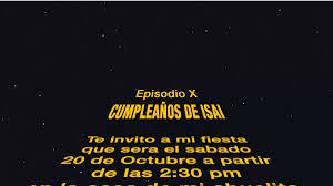 Invitacion Star Wars Video Personalizadas Para Whatsap 185 00
