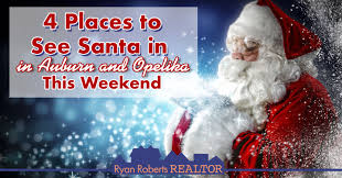 4 places to see santa in auburn and