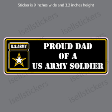 Proud Dad Of A Us Army Soldier Car Bumper Sticker Window Decal