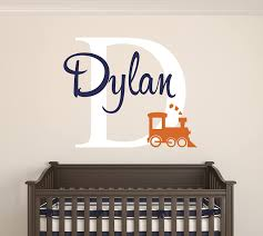 Amazon Com Custom Train Name Wall Decal Baby Room Decor Nursery Wall Decals Train Smoke Art Vinyl Sticker Baby