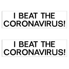 I Beat The Coronavirus Decal Bumper Sticker Set Of 2