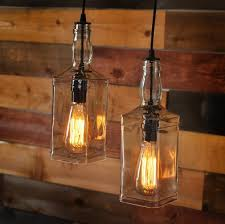 rustic pulley pendant light with