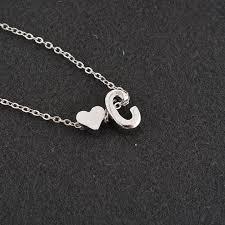 initial monogram charm necklace