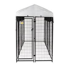 Kennelmaster 4 Ft X 8 Ft X 6 Ft Welded Wire Dog Fence Kennel Kit Dk648wc The Home Depot