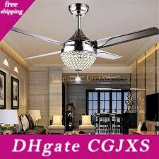 2020 modern crystal ceiling fan light