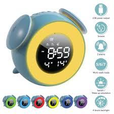 Shop Sunrise Alarm Clock 5 Led 7 Color Light Touch Control For Kids Bedroom Blue Overstock 31287876