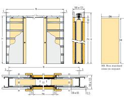 100mm wall thickness double door pocket